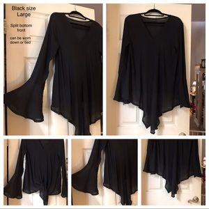 Tops - Womans Black Top (NEW)